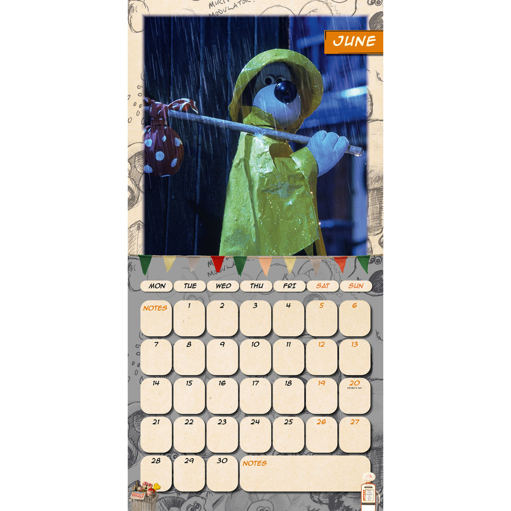 Official Wallace & Gromit Square 2021 Calendar Inside