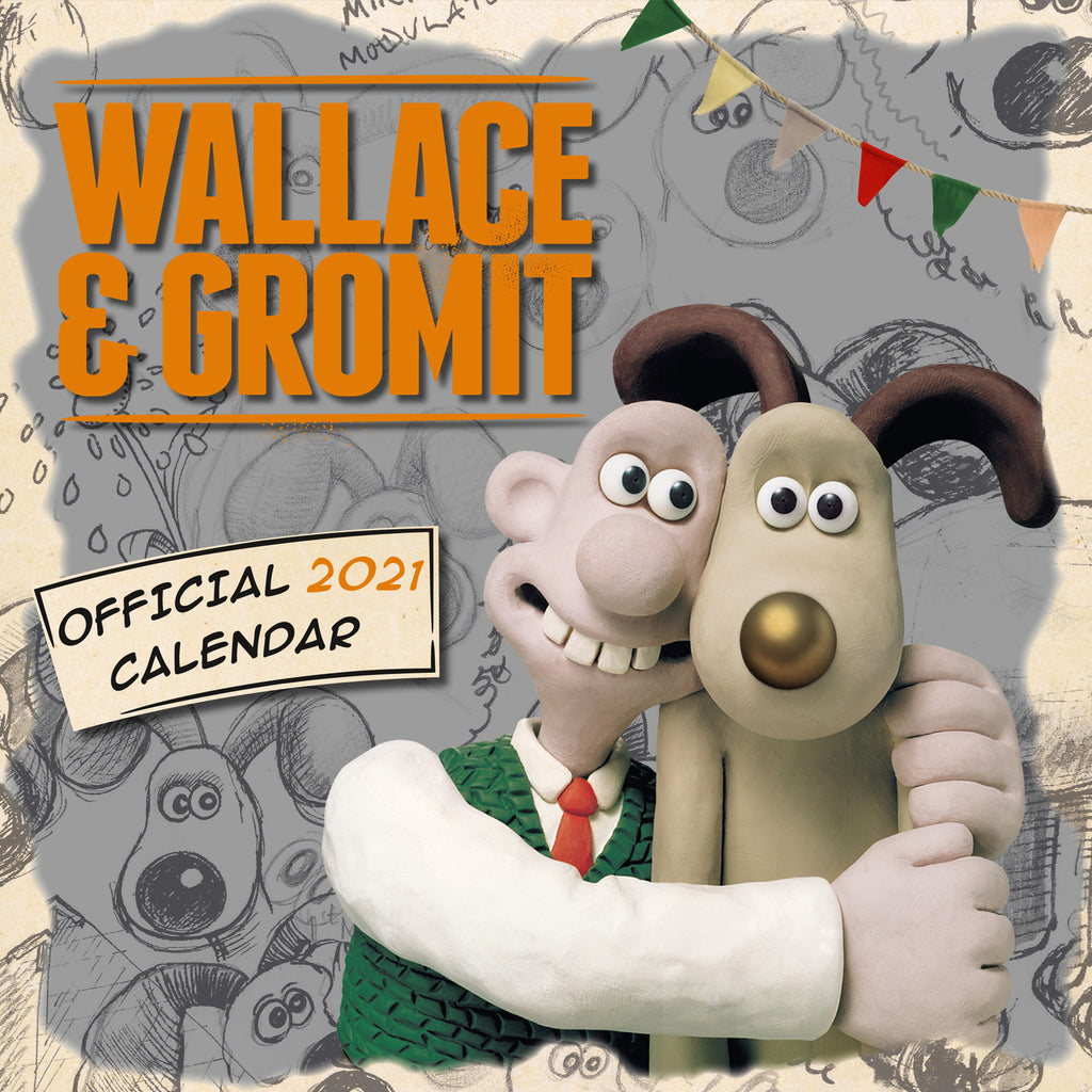 Official Wallace & Gromit Square 2021 Calendar Front