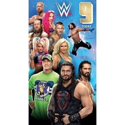 WWE Age 9 Birthday Card