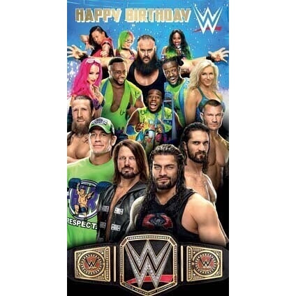 WWE Happy Birthday Card