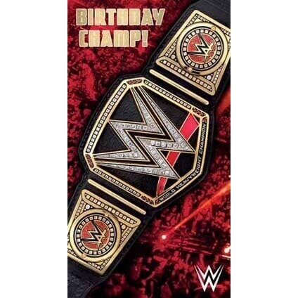 WWE Birthday Champ Card