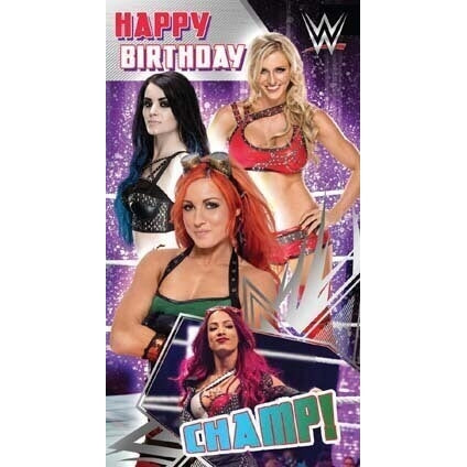 WWE Women's Wrestling Birthday Card