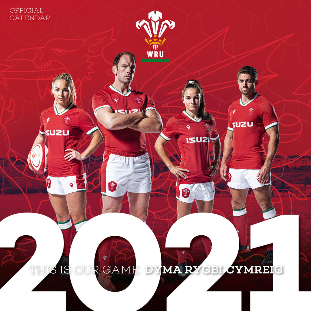 Wales Rugby Union Square Wall Calendar MAIN