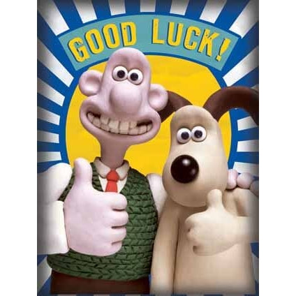 Wallace & Gromit Good Luck Card