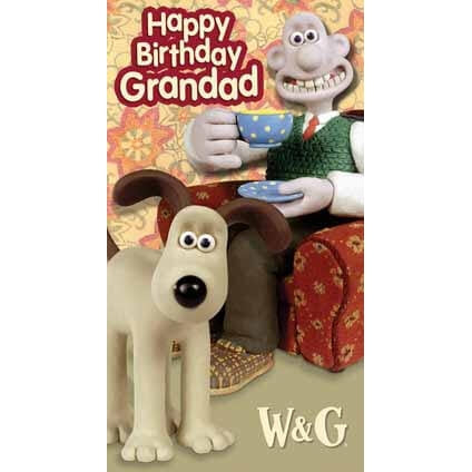 Wallace & Gromit Grandad Birthday Card