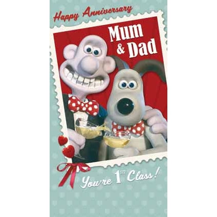 Wallace & Gromit Happy Anniversary Mum & Dad Card