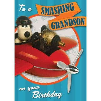 Wallace & Gromit Grandson Birthday Card