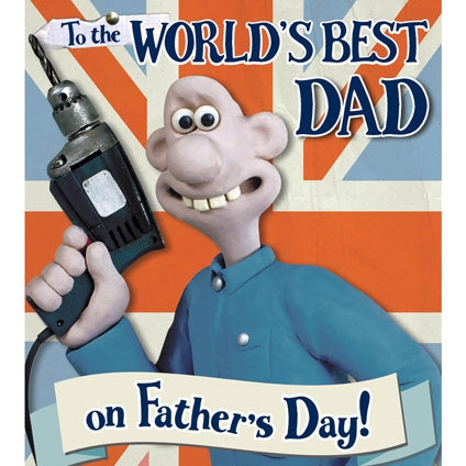 Wallace & Gromit World's Best Dad Father's Day Card