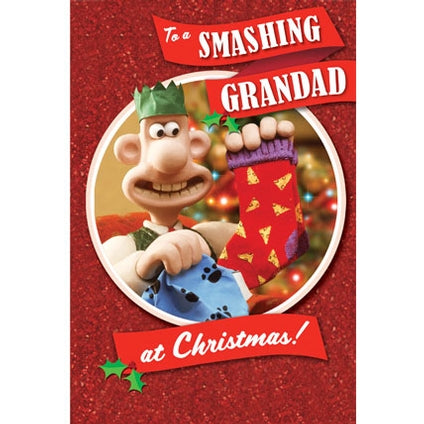 Wallace And Gromit Grandad Christmas Card
