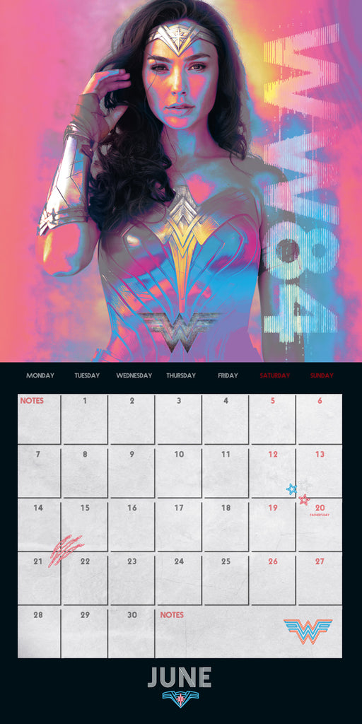 Wonder Woman Movie Official 2021 Square Wall Calendar INSIDE