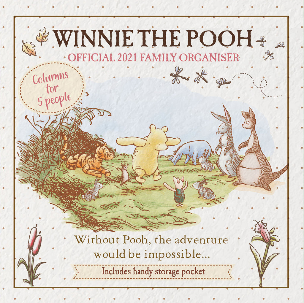 Winnie The Pooh (Classic) Official 2021 Family Organiser Front