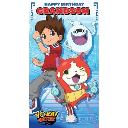 Yo-Kai Watch Grandson Birthday Card
