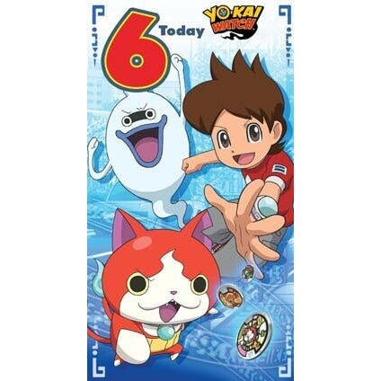 Yo-Kai Watch Age 6 Birthday Card