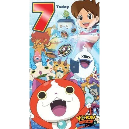 Yo-Kai Watch Age 7 Birthday Card