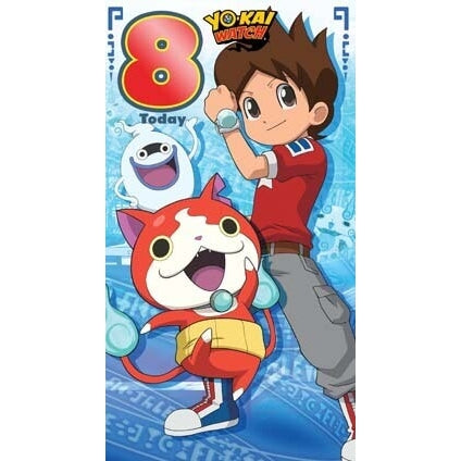 Yo-Kai Watch Age 8 Birthday Card