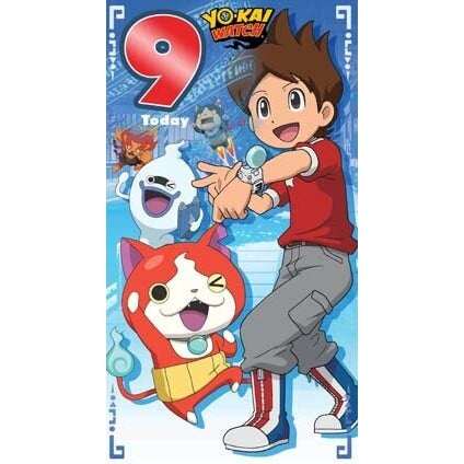 Yo-Kai Watch Age 9 Birthday Card