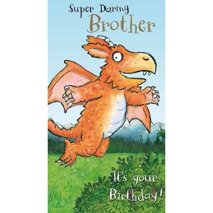 Zog Super Daring Brother Birthday Card
