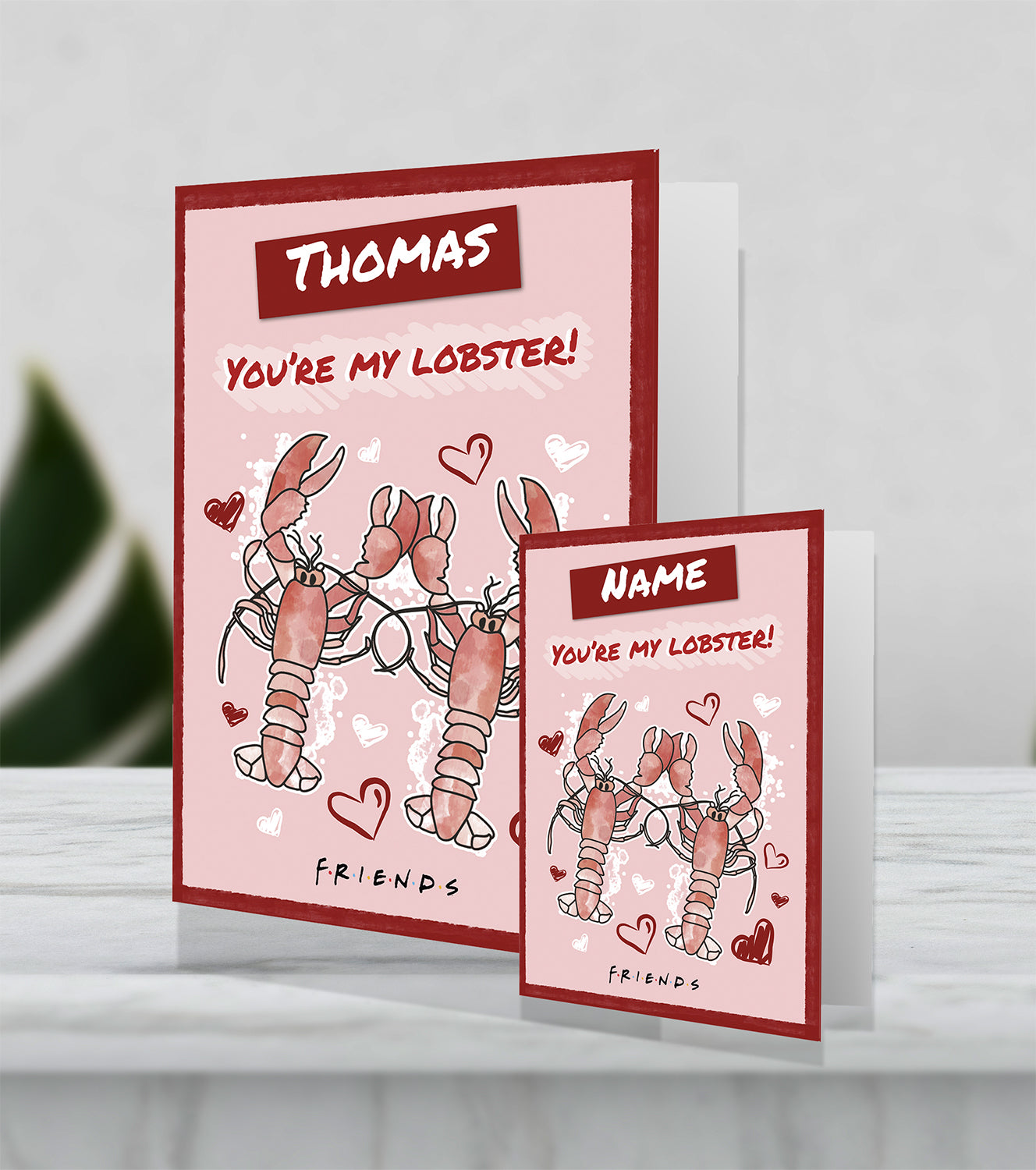 Giant Personalised Friends 'You're my Lobster' Valentines Card