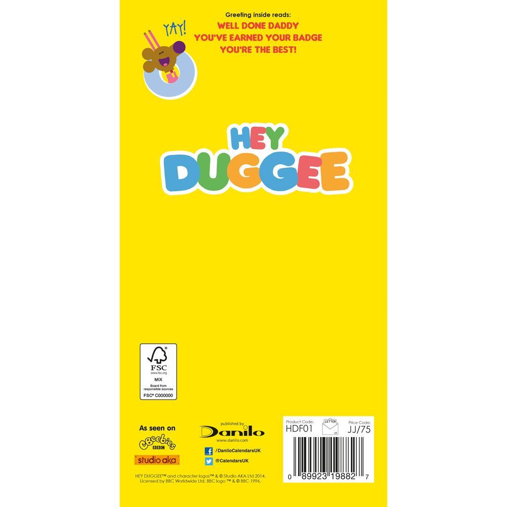 Hey Duggee Father's Day Card Back