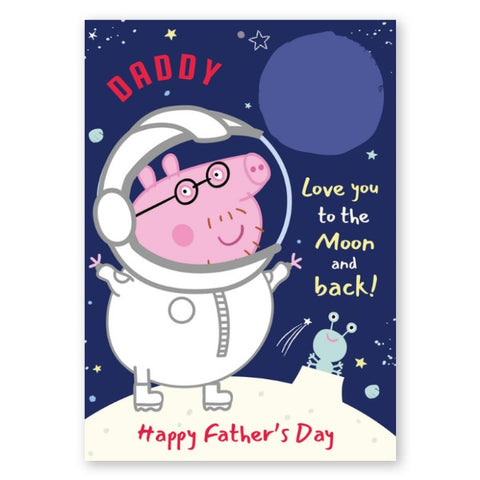 Peppa Pig Personalised Daddy Pig Photo Upload Father's Day Card