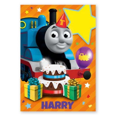 Thomas and Friends Personalised Name & Age Birthday Card - A5 Greeting Card