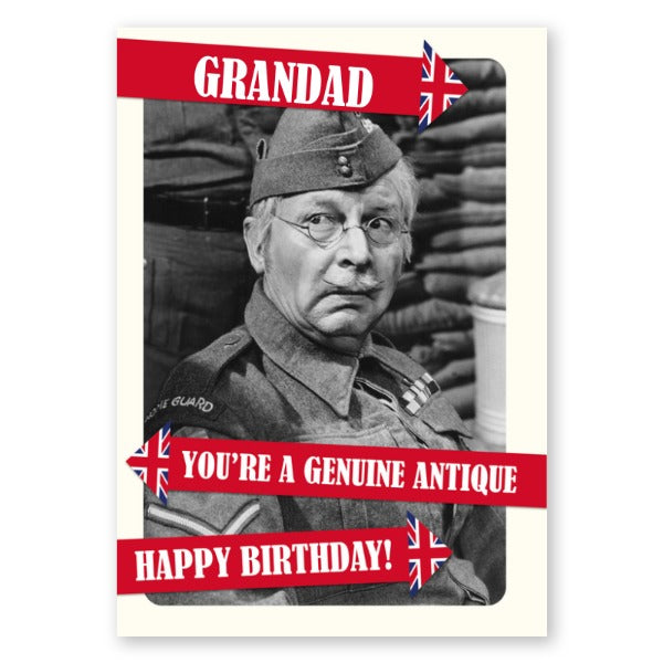 Dad's Army Personalised Genuine Antique Birthday Card - A5 Greeting Card