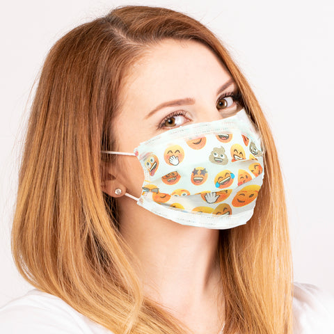 JoyPixels Emoji Disposable Face Masks