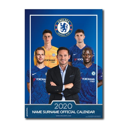 Chelsea Football Club Personalised 2020 Official Wall Calendar