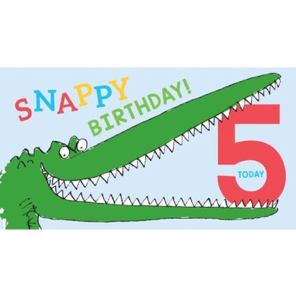Roald Dahl The Enormous Crocodile 5-Year-Old Birthday Card