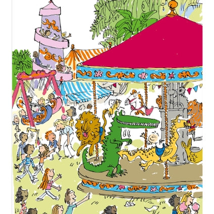 Roald Dahl The Enormous Crocodile Fairground Greeting Card