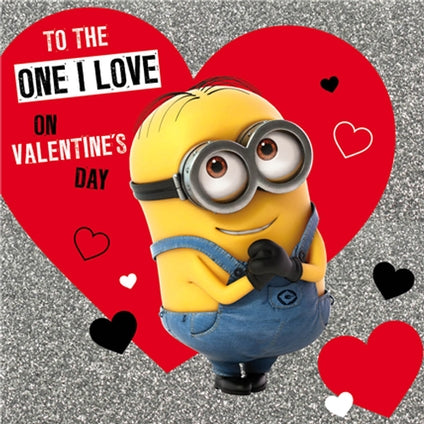 Despicable Me Minion Valentines Day Card