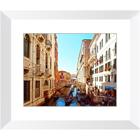 "A Busy Venetian ""Street"" Framed Print 