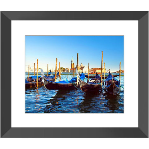 Docked Gondolas in the Grand Canal Framed Print | Horstmann Designs, Photography Wall Art