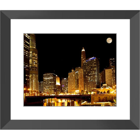 Extra Supermoon over Chicago Framed Print | Horstmann Designs, Photography Wall Art