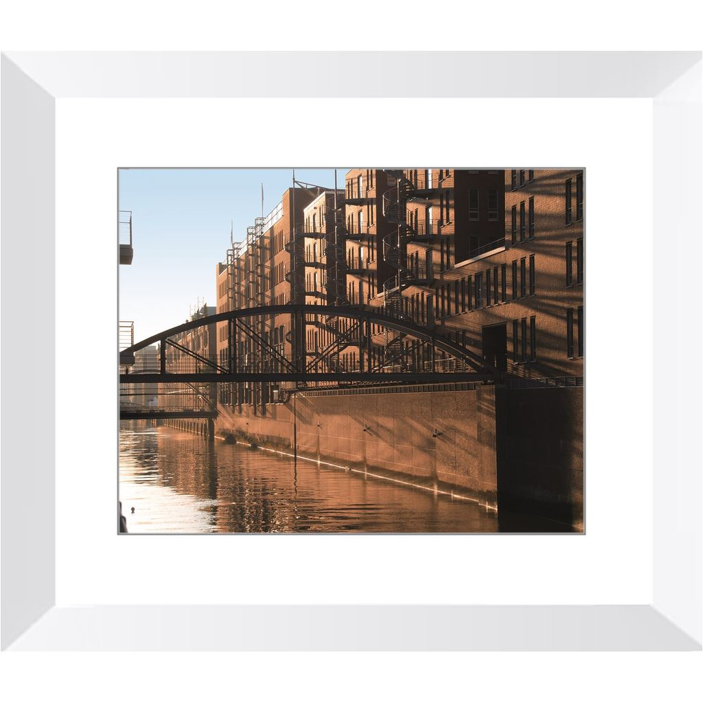 Historic Warehouse District in Hamburg Framed Print | Horstmann Designs, Photography Wall Art