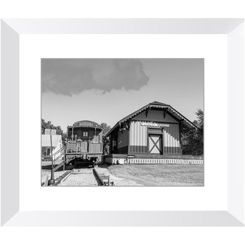 Railroad Depot & Caboose II-II Framed Print | Horstmann Designs, Photography Wall Art