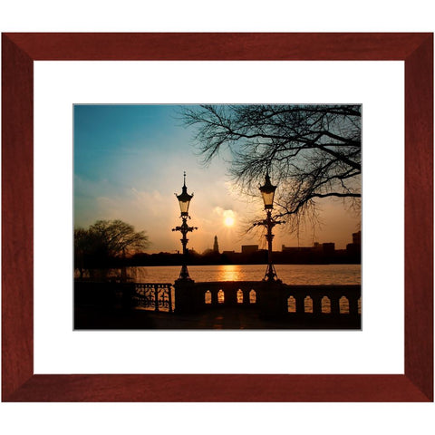 Sunset at Schwanenwik II Framed Print | Horstmann Designs, Photography Wall Art