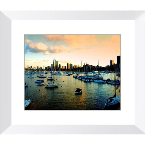 Sunset at the Chicago Yacht Club | Horstmann Designs, Photography Wall Art