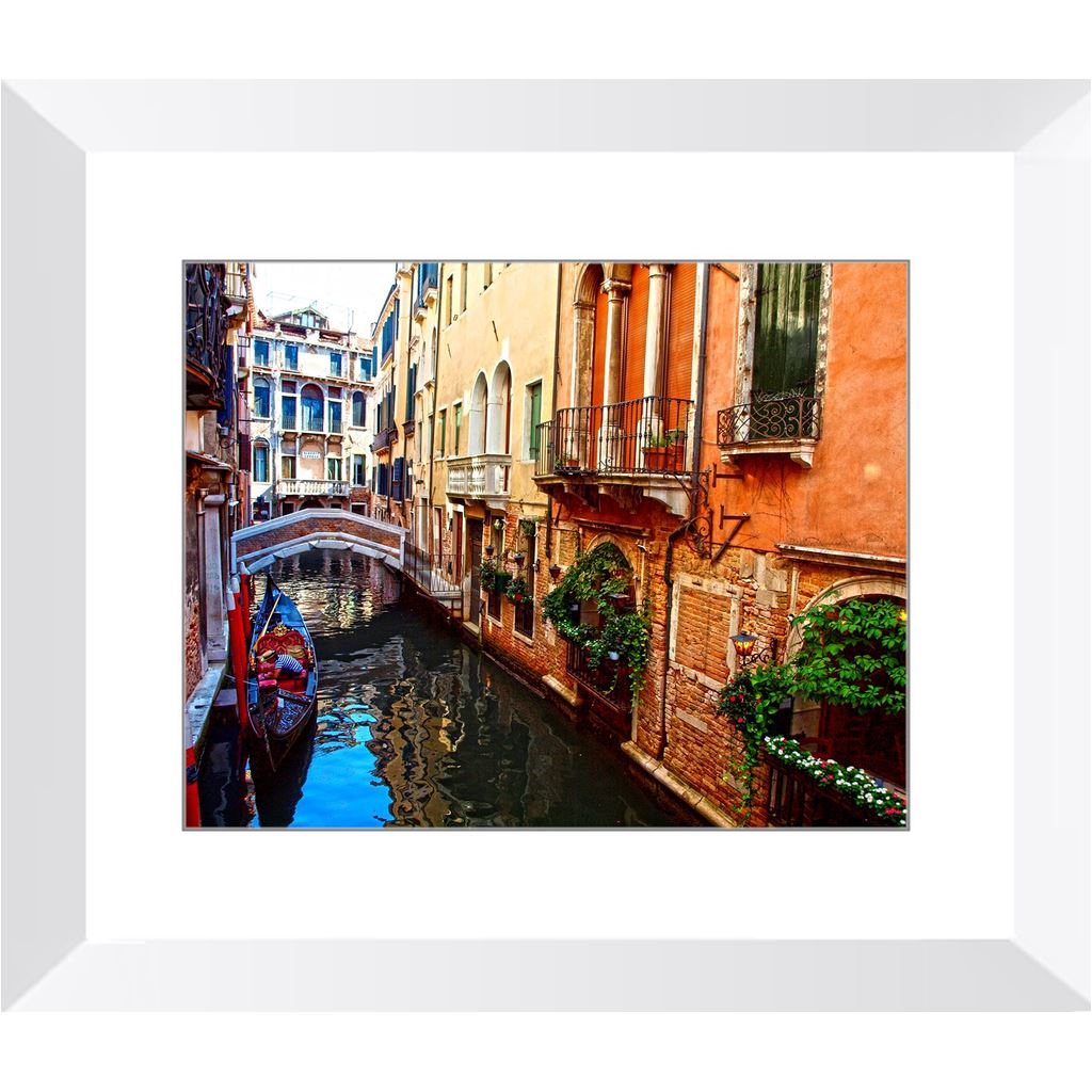 Venice Canal Docked Gondola Framed Print | Horstmann Designs, Photography Wall Art