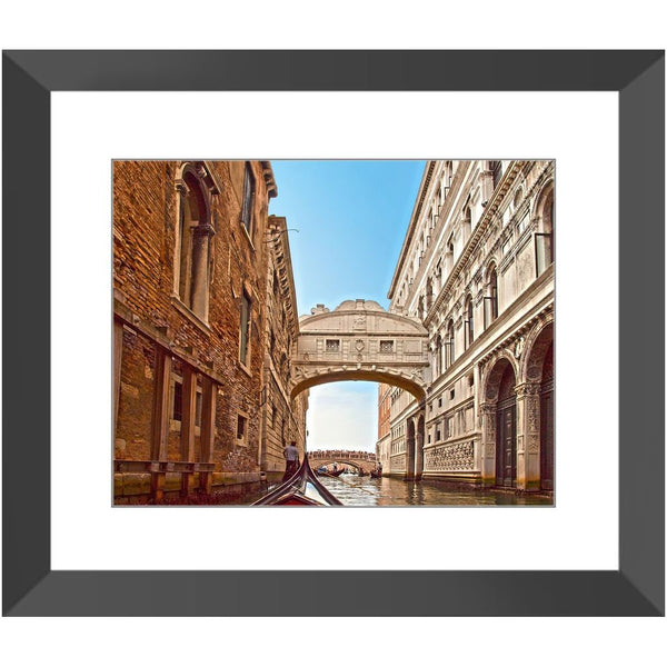 Venice Gondola Tour The Bridge of Sighs Framed Print | Horstmann Designs, Photography Wall Art