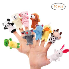 Riffar 10PCS ANIMAL FINGER PUPPET 30799367-multicolor