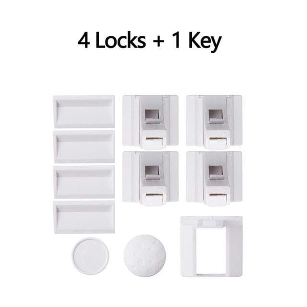 Riffar 4 locks 1 key Magnetic Child Safety Locks 17322274-4-locks-1-key-china
