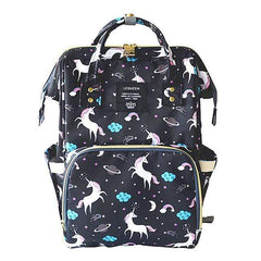Riffar black unicorn Mummy Nappy Bag 20185458-black-unicorn
