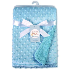 Riffar Blue BABY SOFT COTTON FLEECE BLANKET 22372086-blue