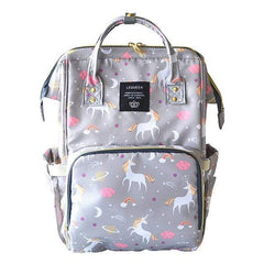 Riffar grey unicorn Mummy Nappy Bag 20185458-grey-unicorn