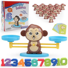 Riffar Monkey with box Monkey Balance - Math Genius 21287360-monkey-with-box