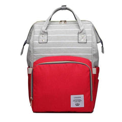 Riffar red stripe Mummy Nappy Bag 20185458-red-stripe