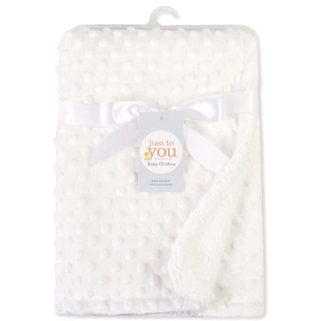 Riffar White BABY SOFT COTTON FLEECE BLANKET 22372086-white