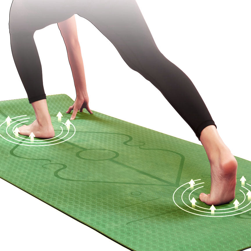Body Coach™ Best Non-Slip Eco-Friendly Yoga Mat - Young Forest - Green-Black