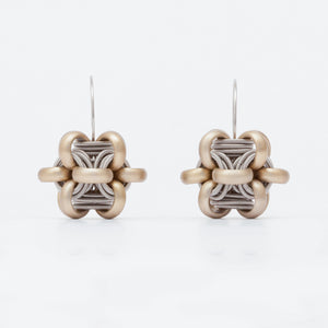 Orecchini Earrings Cubo Ottone Brass  Brengola